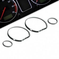 Encadrements pour manomètres, chrome, pour VW Golf 3, Vento