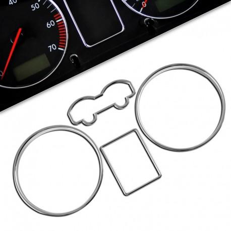 Encadrements pour manomètres, chrome, pour VW Golf 4, Bora