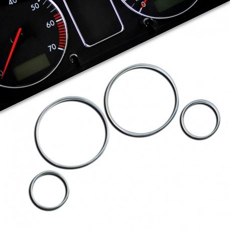 Encadrements pour manomètres, chrome, pour Opel Astra G