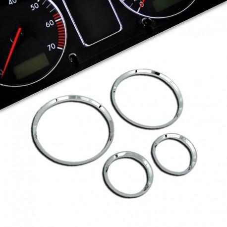 Encadrements pour manomètres, chrome, pour Opel Corsa B
