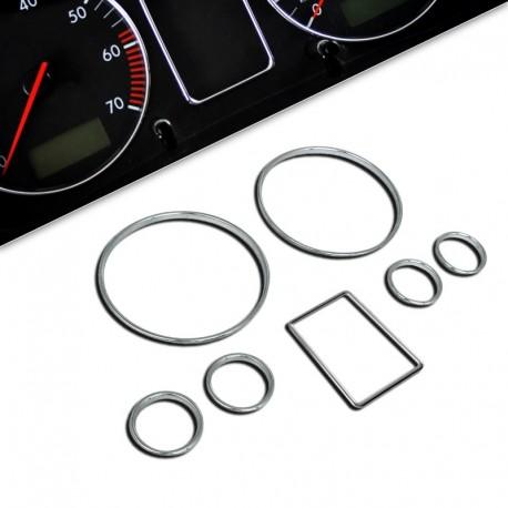 Encadrements pour manomètres pour Audi A4/A6 (B5), 7-pièces