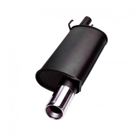 Silencieux en acier, Fiat Seicento 0,9/ 1.1/ Sporting, 1 x 76 mm, homologué