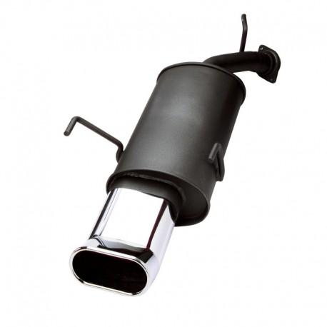 Silencieux en acier, VW Beetle 1,4 / 1,6 / 1,8 / 1,8T / 1,9TDI / 2,0 sauf RSI, 2 x 90 mm OvalTour, homologué ABE