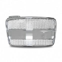 Calandre JOM pour Audi A4 8E B7 (04-08) grille nid d'abeille, chrome