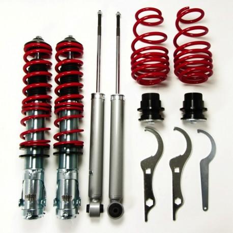 kit combiné fileté JOM Red Line pour VW Lupo (98-05) 1.0/ 1.4/ 16V/ 1.6GTi/ 1.4TDi/ 1.7SDi (6X)