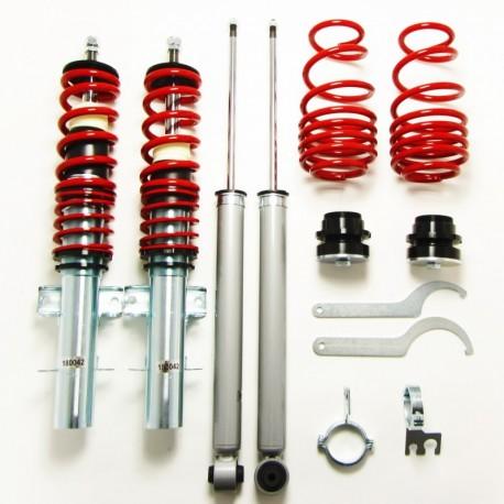 kit combiné fileté JOM Red Line pour VW Polo 6R (09-14) 1.2/ 1.4/ 1.6/ 1.4 TDi/ 1.6TDi