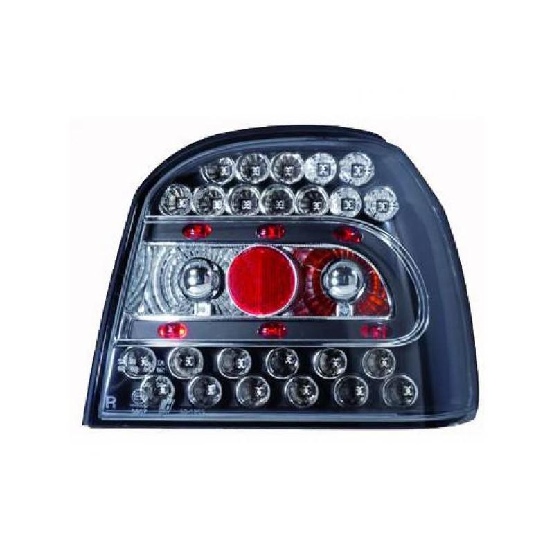 set 2 feux arrieres design noir led vw golf 3 iii 91 97 mod2 autodc. Black Bedroom Furniture Sets. Home Design Ideas
