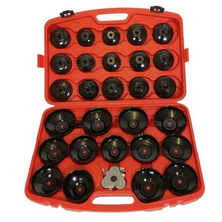 Set de 31 pièces de clé à filtre à huile - cloche à filtre à l'huile