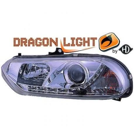 SET DE PHARES AVANT DESIGN CHROME A LED POUR ALFA ROMEO 156 (97-03)