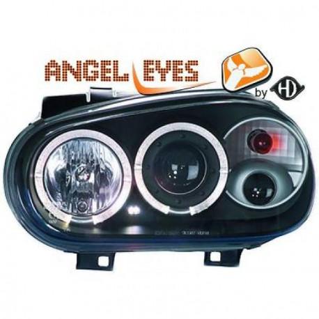 set de deux phares avant angel eyes noir vw golf 4 iv 97 03 mod 1 autodc. Black Bedroom Furniture Sets. Home Design Ideas