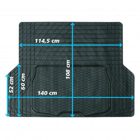 Bac  de coffre universel, dim: 108 x 140 cm, couleur: noir, PVC, à couper