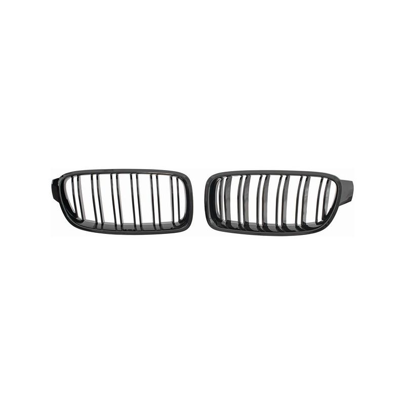 set calandre noir brillant look m3 bmw serie 3 f30 f31 11 15 double ligne autodc. Black Bedroom Furniture Sets. Home Design Ideas
