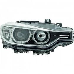 SET DE DEUX PHARES AVANT LOOK XENON ORIGINE BMW SERIE 3 F30/F31 (11-15) - HALOGENE H7/H7 - FOND NOIR
