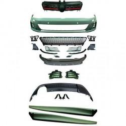 KIT COMPLET LOOK GTI VW GOLF VII (12-17) - PARE CHOC AVANT + BAS DE CAISSE + DIFFUSEUR ARRIERE - POUR PDC