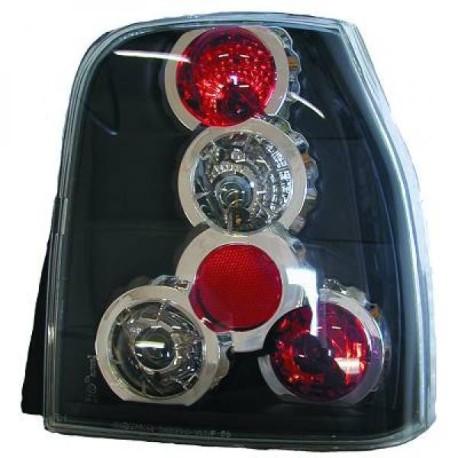 SET DE FEUX ARRIERES DESIGN NOIR POUR SEAT AROSA 6H (97-00)