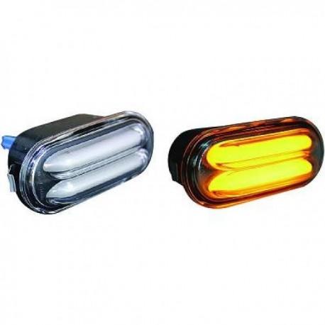 SET DE DEUX CLIGNOTANTS LATERAUX DESIGN POUR SEAT IBIZA 6L - CORDOBA (02-08) - DESIGN A LED