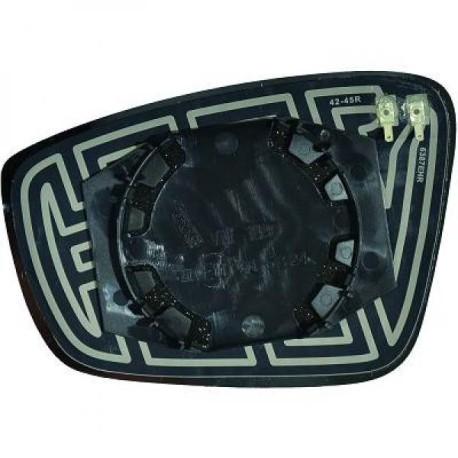 GLACE DE RETROVISEUR EXTERIEUR DROIT POUR SEAT MII (11-18) - CHAUFFANTE