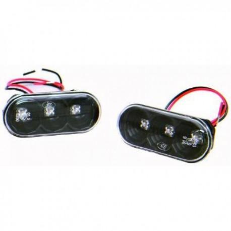 SET DE DEUX CLIGNOTANTS LATERAUX DESIGN POUR SEAT IBIZA 6L - CORDOBA (02-08) - DESIGN A LED - NOIR
