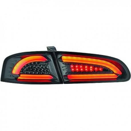 SET DE FEUX ARRIERES DESIGN A LED NOIR POUR SEAT IBIZA 6L (02-08) - MOD 2