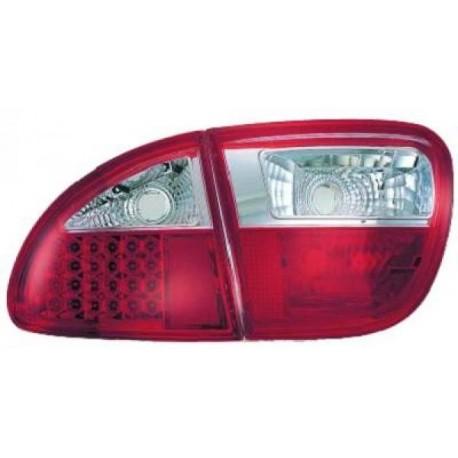 SET DE FEUX ARRIERES DESIGN ROUGE POUR SEAT LEON 1M (99-04) - AVEC LED