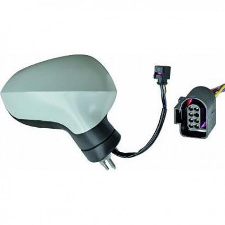 RETROVISEUR EXTERIEUR DROIT - ELECTRIQUE - RABATTABLE POUR SEAT LEON (09-12)