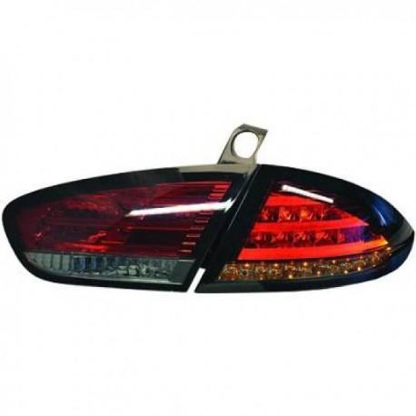 SET DE FEUX ARRIERES DESIGN ROUGE POUR SEAT LEON (09-12) - AVEC LED