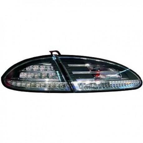 SET DE FEUX ARRIERES DESIGN NOIR POUR SEAT LEON (04-09) - AVEC LED