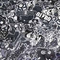 Film noir blanc, 152 x 200 cm, structure 3D, avec technologie de pose sans bulles, autocollant, PVC