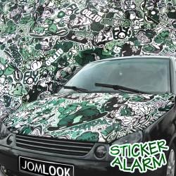 Film vert blanc, 152 x 200 cm, structure 3D, avec technologie de pose sans bulles, autocollant, PVC