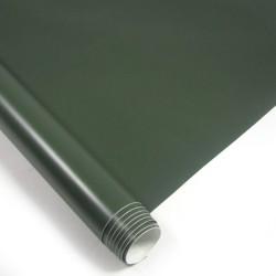 Film armée vert mat, 152 x 200 cm, structure 3D, avec technologie de pose sans bulles, autocollant, PVC