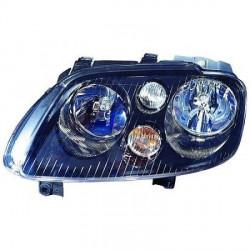 PHARE AVANT DROIT FOND NOIR VW TOURAN (03-06) - CADDY (03-10) - PAS POUR XÉNON
