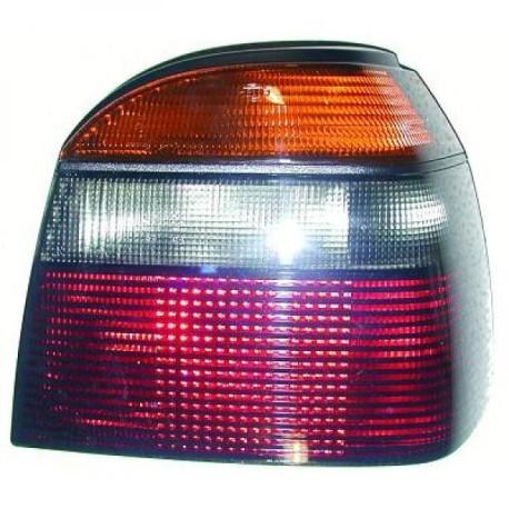 FEU ARRIERE GAUCHE VW GOLF 3 - III (91-97) + CABRIO (93-02) - ROUGE - FUME - PAS POUR VARIANT/BREAK