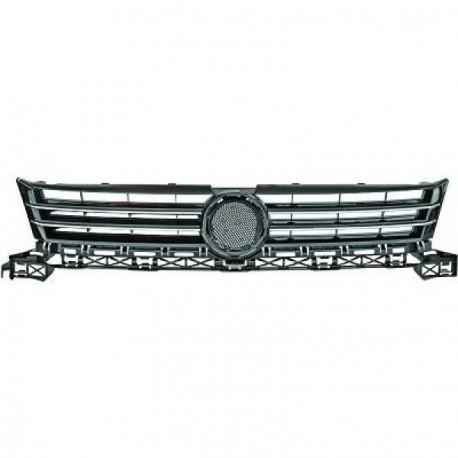 calandre avec embleme vw caddy 10 15 touran 10 15 noir chrome autodc. Black Bedroom Furniture Sets. Home Design Ideas