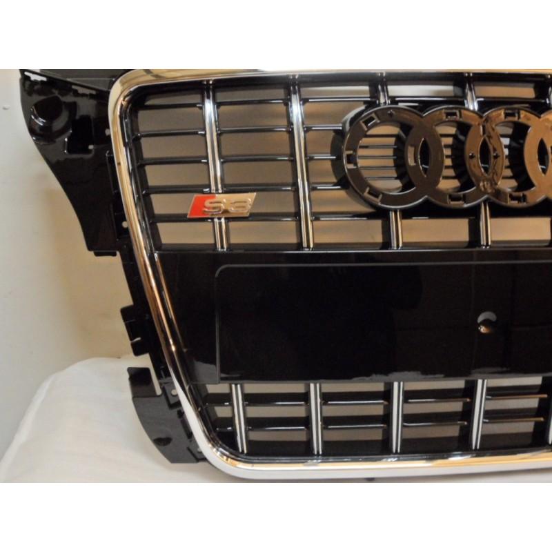 calandre look s3 audi a3 8p s3 8p 08 12 finition noir contour chrome autodc. Black Bedroom Furniture Sets. Home Design Ideas