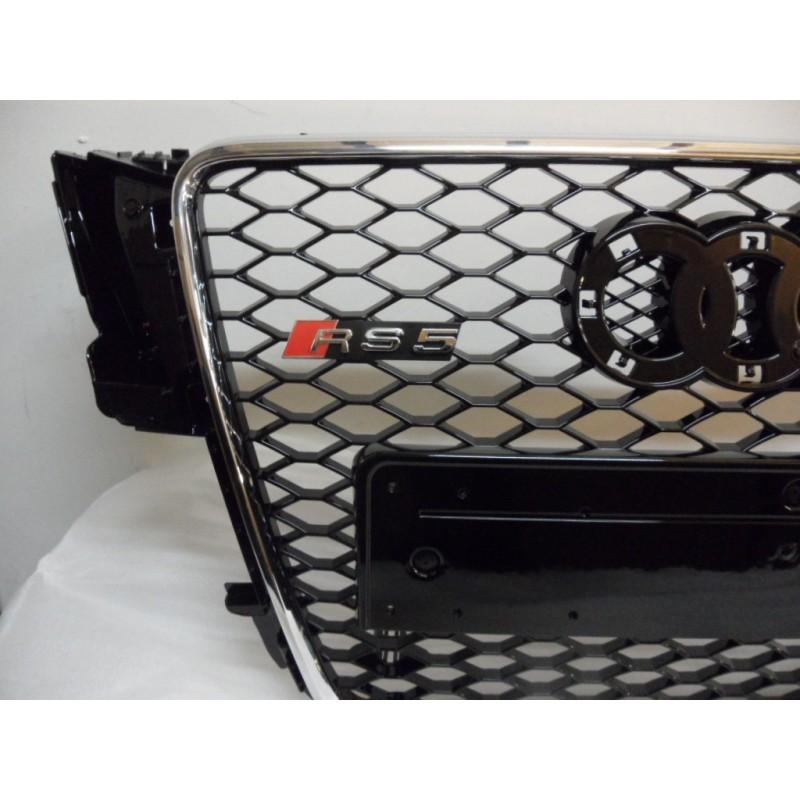 calandre look rs5 audi a5 8t 07 11 finition noir contour chrome autodc. Black Bedroom Furniture Sets. Home Design Ideas