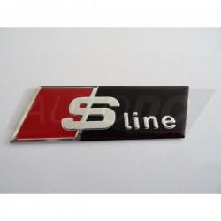 LOGO S-LINE POUR CALANDRE AUDI S1 S3 S4 S5 S6 S7 S8 SQ5 SQ7 - FINITION NOIR
