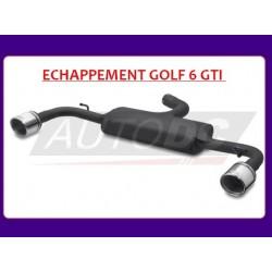 ECHAPPEMENT LOOK GTI VW GOLF 6 (08-12) - 2 X 90MM - HOMOLOGATION EUROPÉENNE