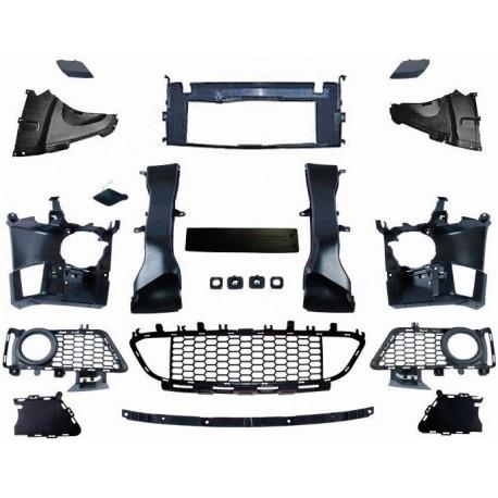 set de grilles et accessoires pour pare chocs avant pack m bmw s rie 3 f30 f31 11 19 autodc. Black Bedroom Furniture Sets. Home Design Ideas