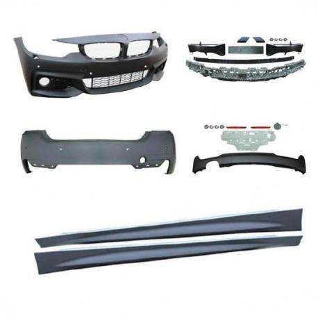 KIT COMPLET LOOK PACK M BMW SÉRIE 4 F36 GRAN COUPÉ (14-19) PARE CHOC AVANT - ARRIÈRE - BAS DE CAISSE