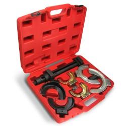 Set compresseur de ressorts, 8 pièces, avec coffret, pour ressorts 80-195 mm de diamètre, pour jambes Mac Pherson